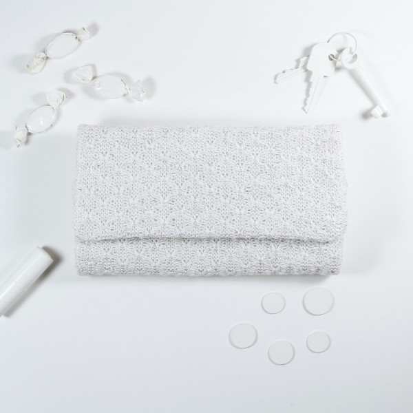 small bag_white Silber
