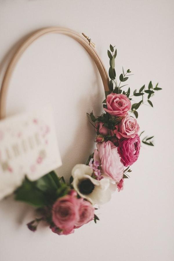 Hoop Bridal Bouqet as seen on Wedding Blog Humming Heartstrings (2)