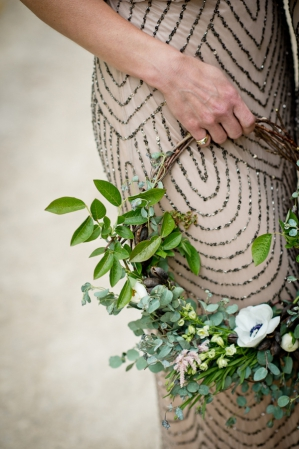Hoop Bridal Bouqet. Photography by Swoon over it as seen on Wedding Blog Humming Heartstrings