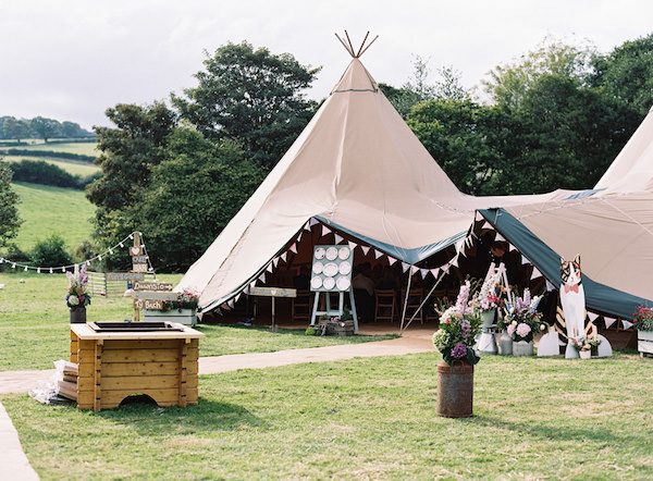Tipi Wedding Ideas. Photography: Ann Kathrin Koch Photography as seen on Wedding Blog Humming Heartstrings