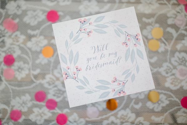 Bridesmaid Gift Box by Patricia Kranich. Photography by Julia Basmann as seen on Wedding Blog Humming Heartstrings 6